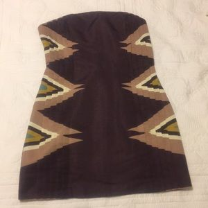 Anthropology Strapless Dress